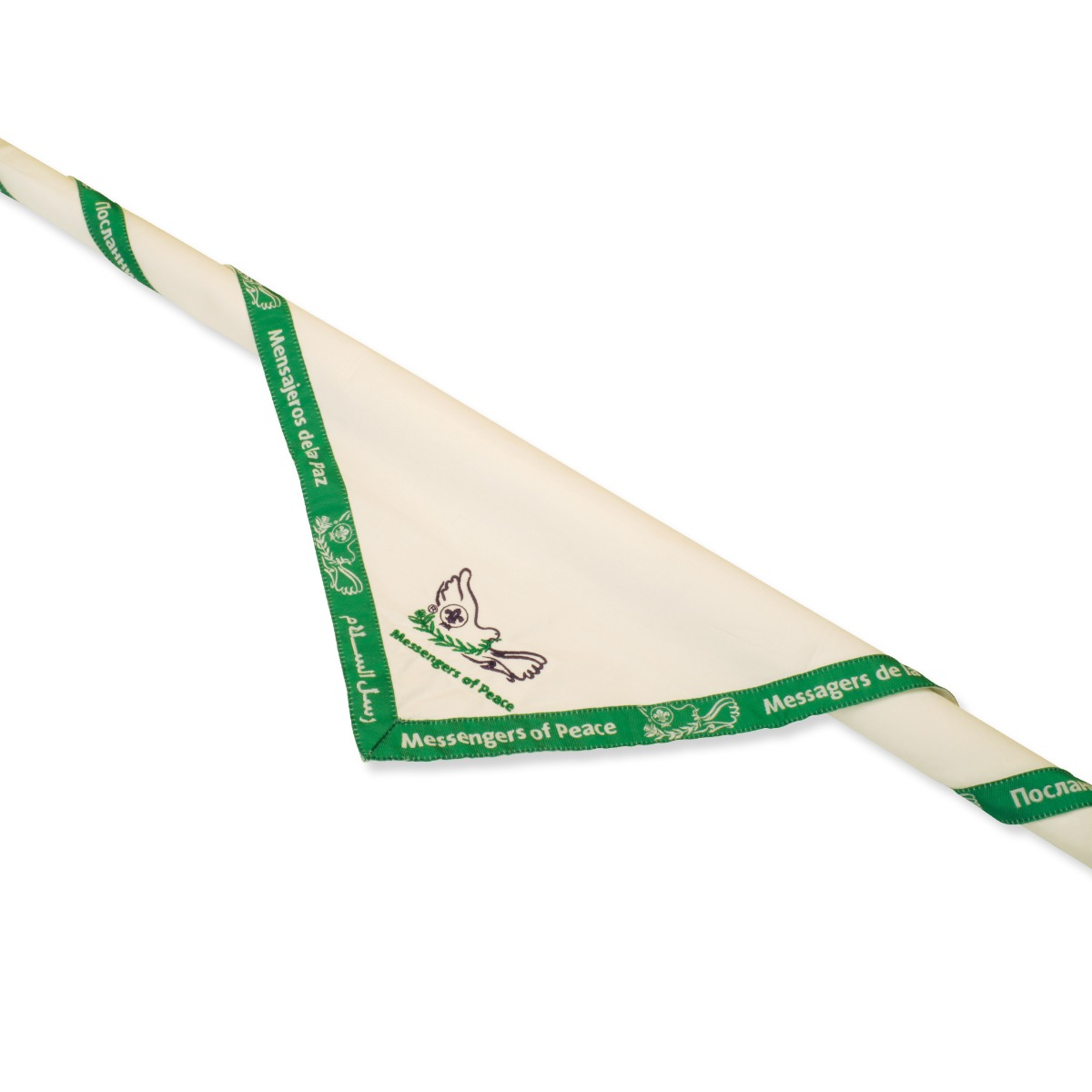 MESSENGERS OF PEACE SCOUT NECKERCHIEF WORLD ORGANIZATION OF SCOUTS MOVEMENT