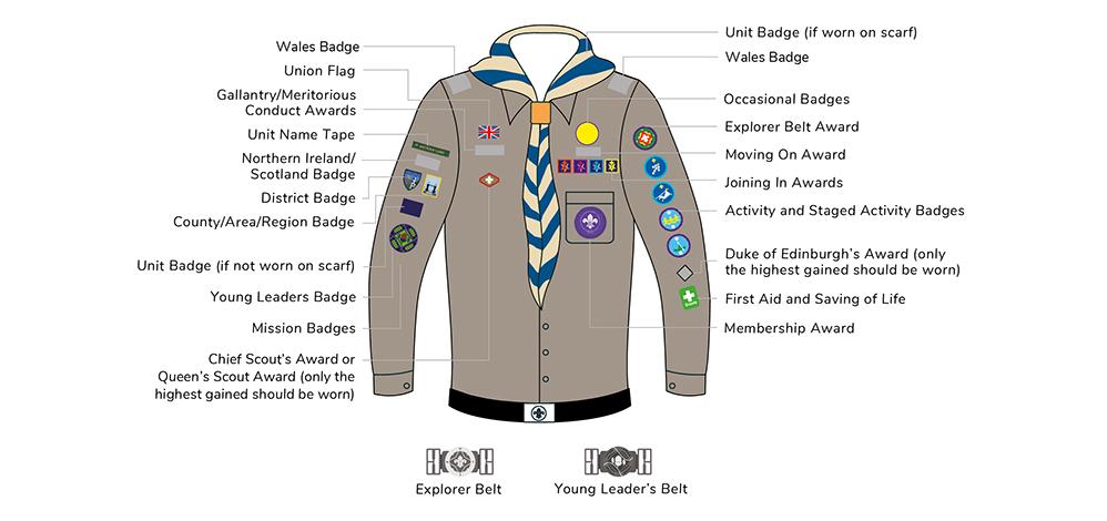 Explorer scout badges